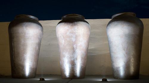 Large uplit vases