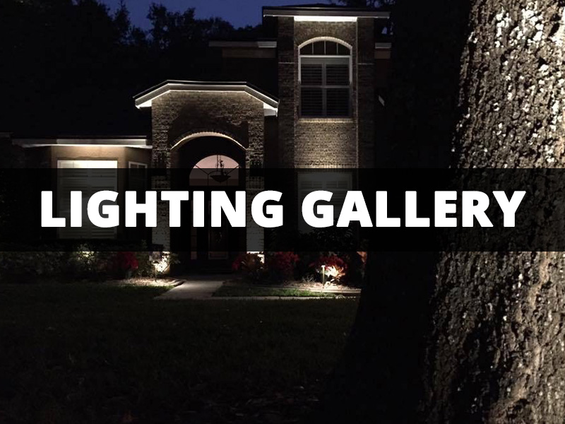 View our landscape lighting photo gallery